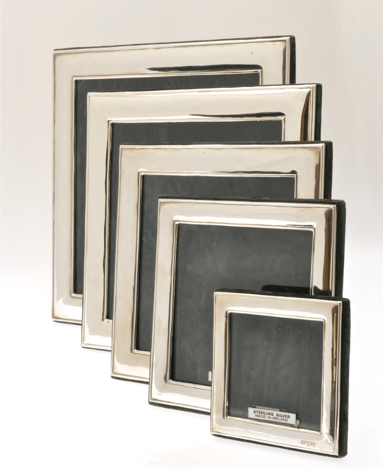 selection of silver frames